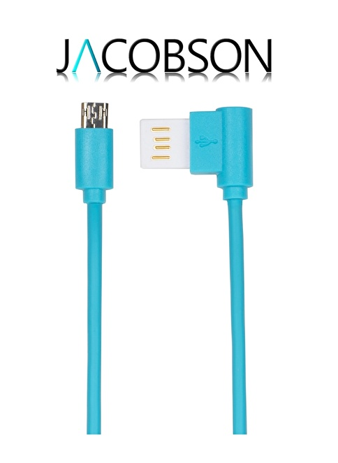 Jacobson J4 Android Uyumlu USB Şarj ve Data Kablosu Mavi